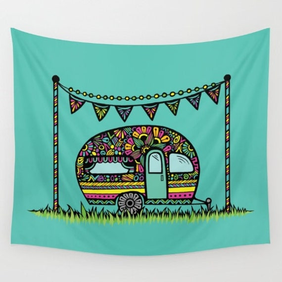 Zentangle - Little Camper Tapestry