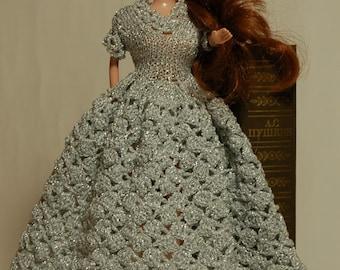 Barbie dress Barbie dress handmade dress for doll clothes for dolls doll dress knit doll clothes crochet doll dress gift for girls