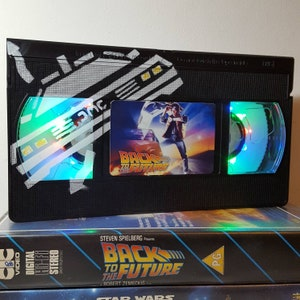 Retro VHS Lamp Back to the Future with Art Design Night Light Table Lamp. Order any Movie! Great gift. Man Cave. Mothers Day
