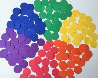 Paper Circle Confetti (1 inch), Kids Birthday Party Confetti, You Choose Colors