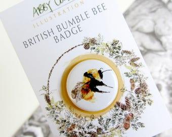 British Bumble Bee Badge