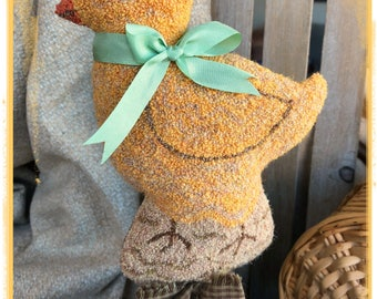 E-Pattern ~ Punch Needle ~ Wooly  Mr.Chick ~ PDF Instant Download