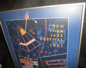 Poster by Thomas Mann New York Jazz Festival 1981