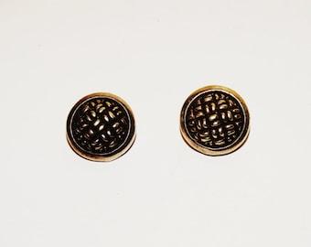 """Vintage Sterling 0.60"""" Earrings."""