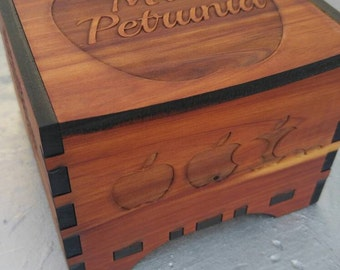 Teachers gifts Personalized Engraved Keepsake cedar Box 5x5