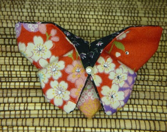 Origami Japanese fabric Butterfly hair clip