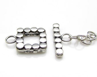 1 Set, Sterling Silver Toggle