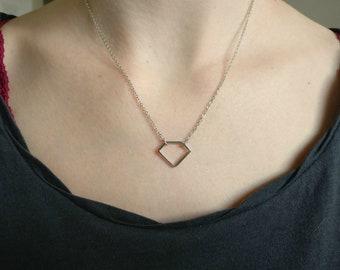 Diamond. Necklace.