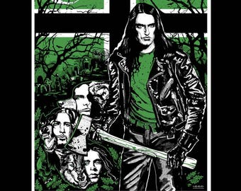 "Type o negative tribute poster hand silk screened signed and numbered - 18' x 24"" all hail peter steele"
