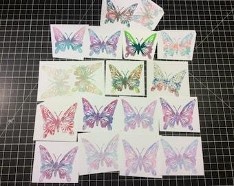 Butterflies, Hand Stamped