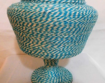 Jute Wrapped Glass Vase