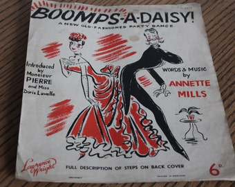 Vintage Sheet Music ~ Boomps-A-Daisy ~ A New Old-Fashioned Party Dance ~ 1940's Sheet Music