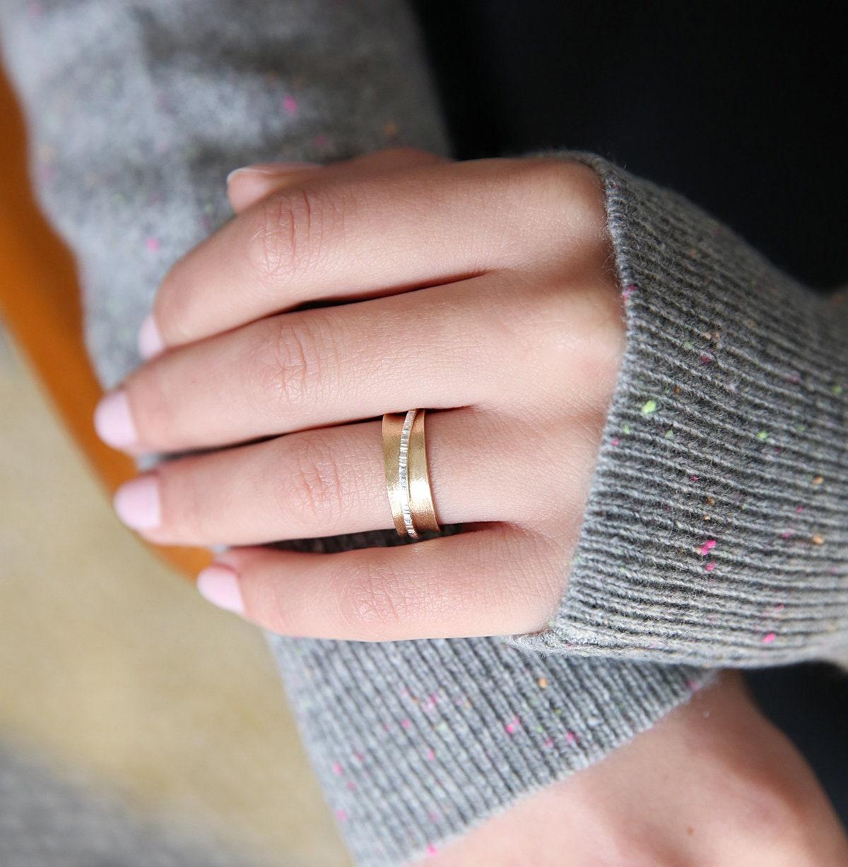 9ct Gold Spinner Ring Spinner Ring Kinetic Ring Gold