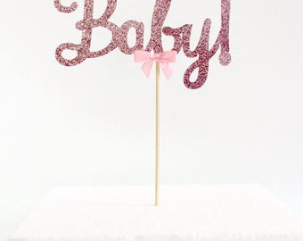 Oh Baby Pink Cake Topper, It's a Girl Baby Shower, Party Decorations
