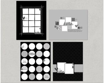 Sample Pack 22 - 8.5x11 Digital Scrapbooking Templates