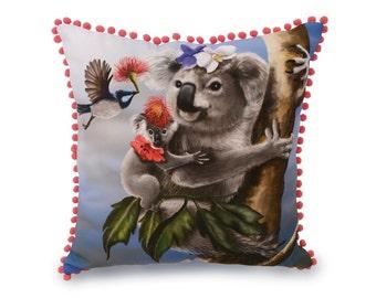 Koala Cushion Cover - Australian animals, decorative pillow, throw pillow, animal cushion, animal pillow, koala cushion, 45 x 45cm