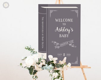 Baby Shower Welcome Sign, Book Welcome Sign, Literary Baby Shower, Book Themed Baby Shower, Welcome to Shower, Book Baby Shower Sign, #LCS