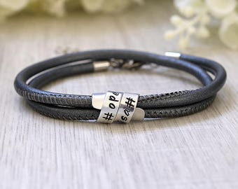 Secret message bracelet - Secret message - Bracelet with secret message - Quote bracelet - Hidden message leather bracelet - Hidden message