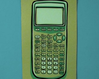 Calculator Screen Print