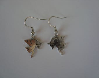 Angel with a Silver Bow earrings