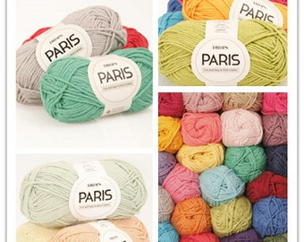Garnstudio DROPS Paris Aran yarn(10ply) 50g, summer yarn, 100% Cotton Yarn, soft cotton yarn