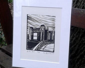 Baltic Mill - limited edition lino print