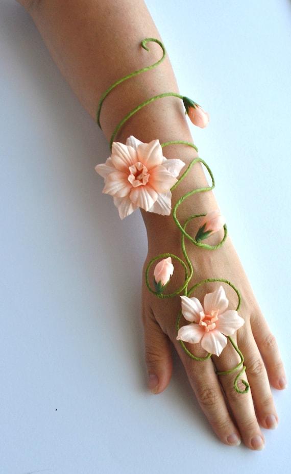 Any colour flower and vine fairy arm cuff slave bracelet