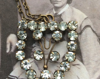 Up Cycled Vintage Diamante Pendant
