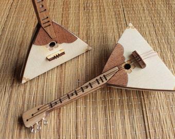 Balalaika - miniature musical instrument - present