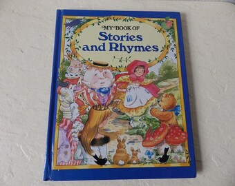 """Children's Book: """"My Book of Stories and Rhymes"""", Large Hardcover book, 1991"""