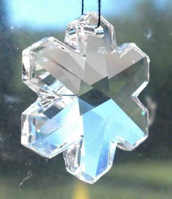 Swarovski snowflake chandelier crystal strass clear 25mm lead swarovski snowflake chandelier crystal strass clear 25mm lead crystal one hole beads shabby chic prisms mozeypictures Gallery
