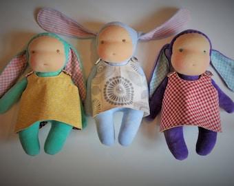 """custom doll * handmade bunny * 8"""" waldorf * OOAK *"""