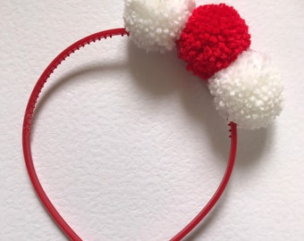 Girls pompom headband