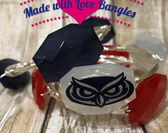 Florida Atlantic University Bangle Set *Bourbon and Boweties Inspired* FAU Jewlery