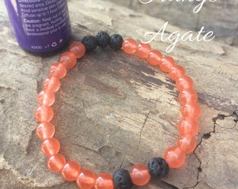 Diffuser Oil Bracelets-Orange Agate