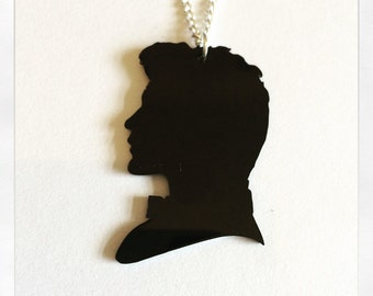 Doctor Who Matt Smith Inspired Silhouette Acrylic Necklace