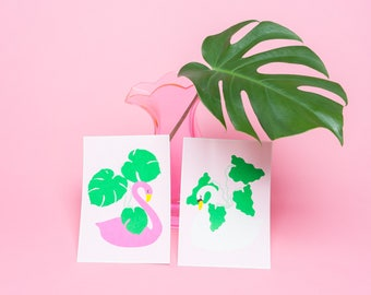 Dream Home For My Plants - set of 2 riso prints by Bridget Carey