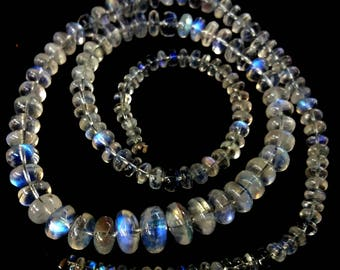 "Natural RAINBOW MOONSTONE smooth beads,Rondelles beads ,3 mm - 9 mm ,16""strand[E1965]Top quality Rainbow moonstone"