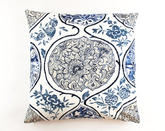 Schumacher Katsugi Knife Edge Pillows (shown in Blue-comes in 8 colors)