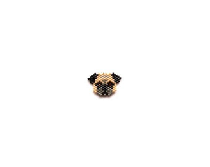 Pug Dog Brick Stitch Bead PATTERN | Printable Digital Download
