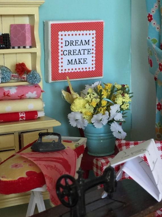 "Dream Create Make- Canvas Art, Craft Room 2"""