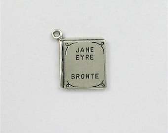 "Sterling Silver ""Jane Eyre"" Book Charm"