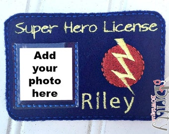 Personalized Super Hero license - ID card