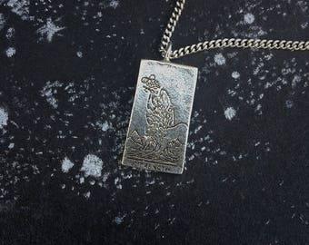 Strength Tarot Card Necklace