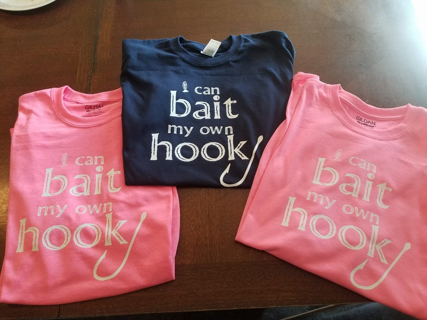 I can bait my own hook t shirt