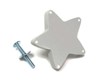 Button star furniture, furniture kids room, Dresser knob, drawer painted wood