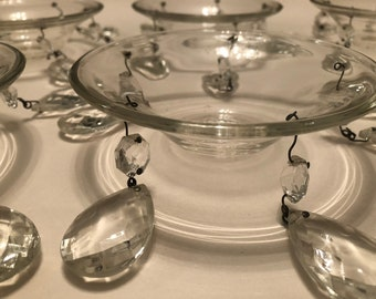 Vintage Chandelier Bobache - set of six for replacement or restoration
