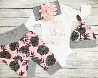 Baby Girl Coming Home Outfit, Baby Girl Clothes, Newborn Outfit, Baby Girl Coming Home Outfit Winter, Newborn Outfit, Newborn Girl