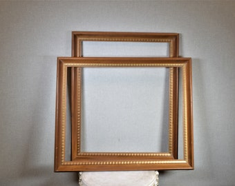 16x20 Frame Vintage Pecan Retro 60s Wood with Optional Custom Matting