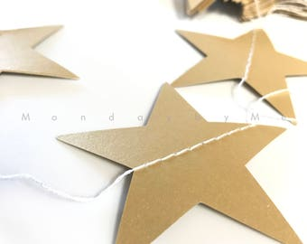 Gold Silver Metallic Star Garland | Wedding Decor | Gold Silver Star Garland | Star Banner | Star Decor | Kids room Decor
